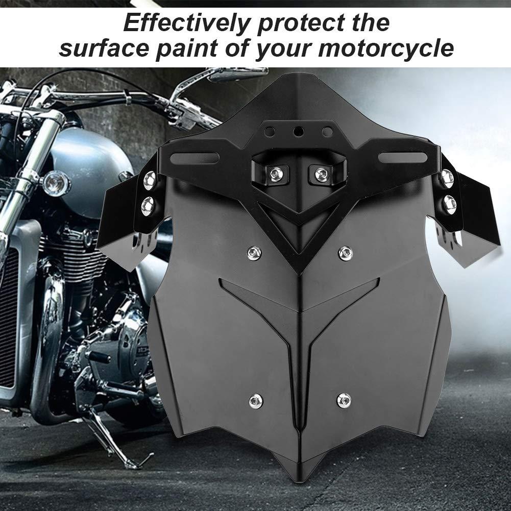Noir KIMISS Garde-boue Arri/ère de Moto Avec Support et Vis