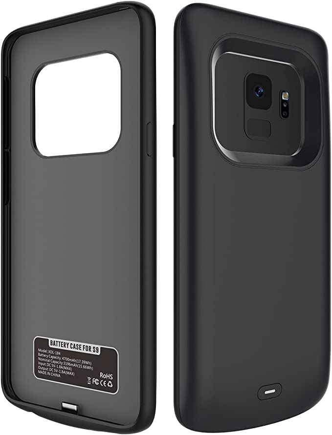 Amazon.com: Samsung S9/S9 Plus Battery Case, Negro: Moonmini