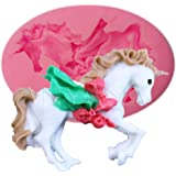 Anyana Carousel Horse Fondant Silicone Mold Soap Chocolate Mould Baking Cake Mold Party Cake Decorating Pastry Gum Pastry Tool Kitchen Tool Sugar Paste Baking Mould Cookie Pastry