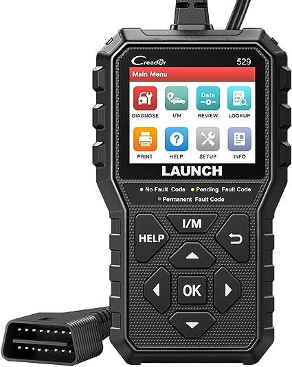 LAUNCH CR529 Interfaz de Diagnosis Code Reader OBD2 Lector y Apagado Luz de Error Motor Datos en Tiempo Real Emisiones Sensor O2 y Prueba EVAP Mantenimiento del Automóvil [ Nuevo 2020 ]: