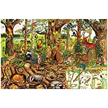 Bigjigs Toys Woodlands Floor Puzzle (24 Piece) - Wooden Jigsaw