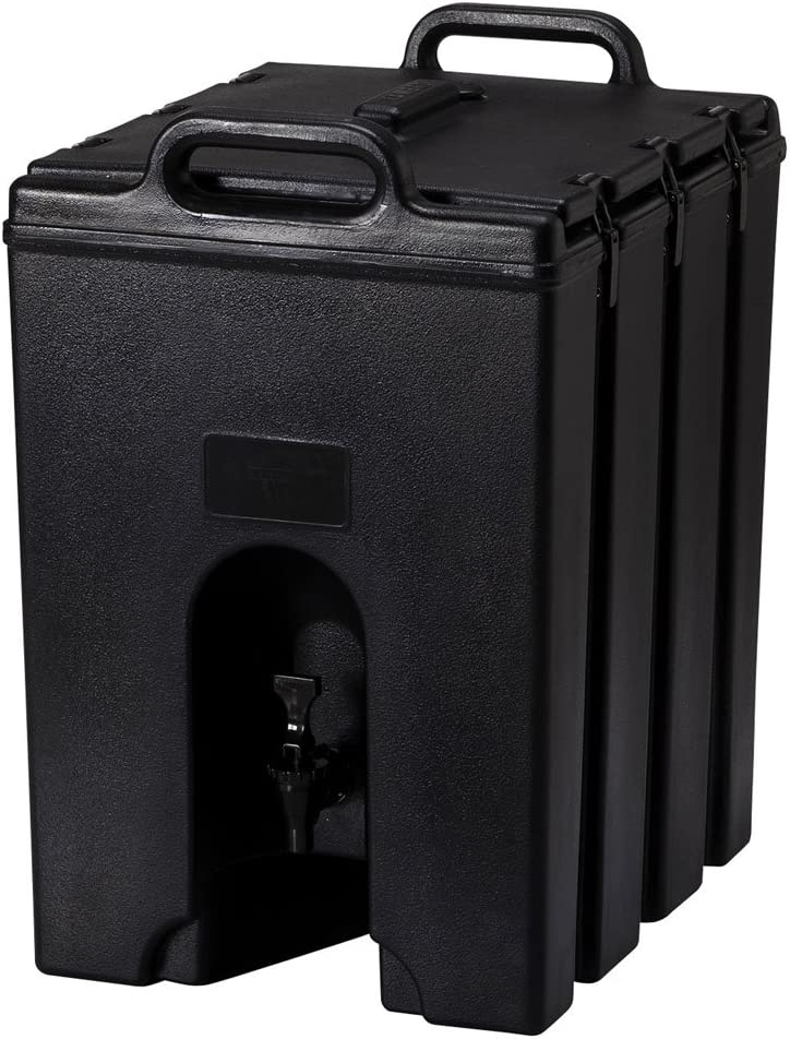 Cambro 1000LCD-110 1000LCD110 Black Camtainer 11.75 Gal. Insulated Beverage Server