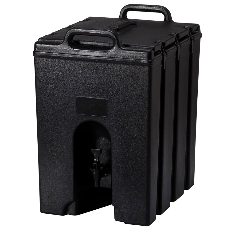 Cambro 1000LCD110 Camtainer 10 Gallon Capacity Black Case of 1