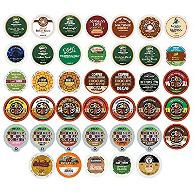 Custom Variety Pack Decaf Coffee Single Serve Cups for Keurig K Cup Brewers, 40 Count