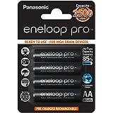 Panasonic eneloop pro, Ready-to-Use Ni-MH Akku, AA Mignon, 4er Pack, min. 2500 mAh, 500 Ladezyklen, mit extrastarker Leistung und geringer Selbstentladung