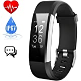 Fitness Tracker, iPosible Activity Tracker Watch with Heart Rate Monitor,IP67 Waterproof Smart Bracelet Step Counter Sleep Monitor Calorie Counter Pedometer Smart Watch GPS for Android and iOS Smartphones iPhone X/8/8plus/7/Samsung S8 and Others (Black)- [ 2 Year Warranty ]