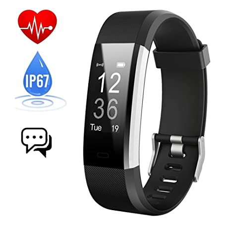 Pulsera Actividad,Monitor de Frecuencia Cardiáco,Pulsera Reloj Inteligente con Pulsómetro Impermeable Podómetro Monitor de Ritmo Cardíaco Monitor de ...