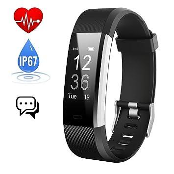 Pulsera Actividad,Monitor de Frecuencia Cardiáco,Pulsera Reloj Inteligente con Pulsómetro Impermeable Podómetro Monitor