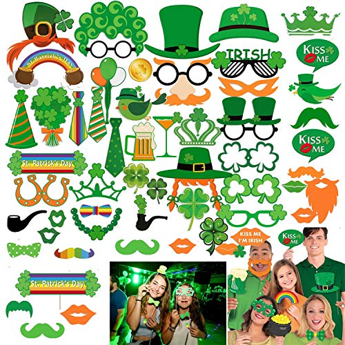 - St.patricks Day Photo Booth Props, Artiflr 52pcs Funny St.patricks Day Photobooth Irish Beer Photo Booth Props with Sticks Selfie Props for Saint Patty's Day Party Favor Suppliers Celebrations
