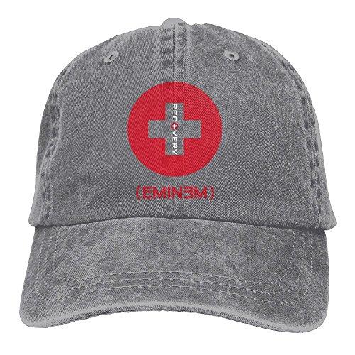 Ulongpoq Unisex Eminem Recovery Cotton Baseball Cap Washed Dyed Ball Dad Hat Adjustable (Eminem Cap)