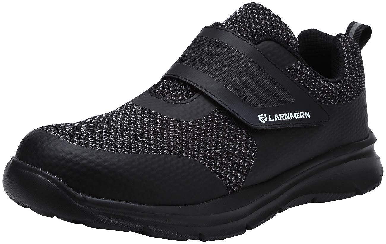 LARNMERN Stahlkappe Sicherheitsschuhe 38 EU, Schwarz Damen luftdurchl/ässige Leichte Anti-Smashing Punktion Proof Schuhe Industrie und Handwerk LM121