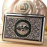 Etui à Cigarettes Pot Boîte Compact Métal Design Elegant Nacre SYMBOLE ETERNITE