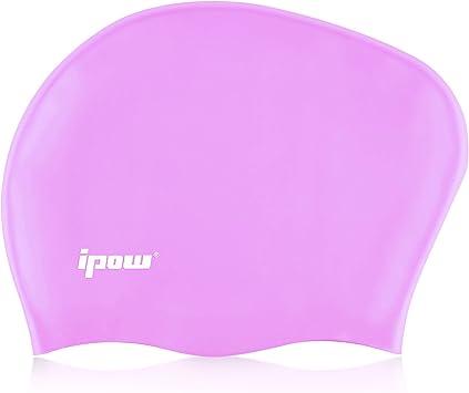 Ipow Gorros de natación de silicona de alta calidad gorro de ducha ...