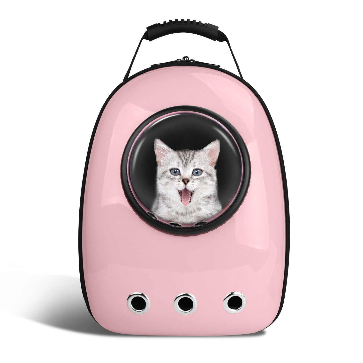 Blitzwolf Pet Portable Carrier Space Capsule Backpack, Pet Bubble Traveler Knapsack Multiple Air Vents Waterproof Lightweight Handbag for Cats Small Dogs Petite Animals