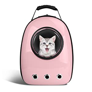 Blitzwolf Pet Portable Carrier Space Capsule Backpack, Pet Bubble Traveler Knapsack Multiple Air Vents Waterproof Lightweight Handbag for Cats Small Dogs & Petite Animals …