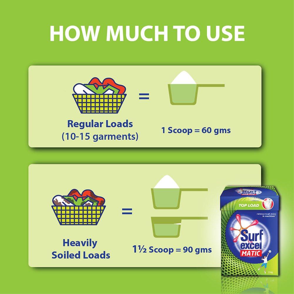 Surf Excel Matic Top Load Detergent Powder 2 Kg Amazon