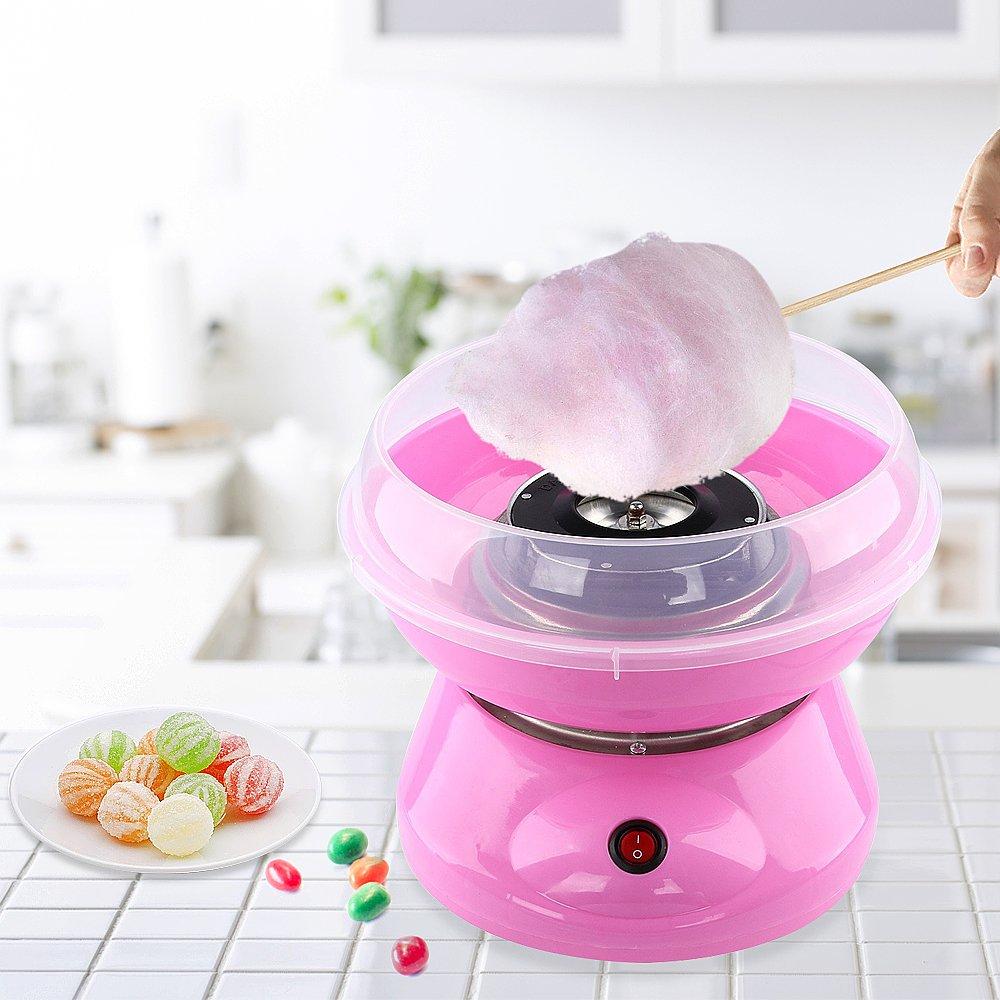 Whitgo Machine /électrique de sucrerie de bricolage Machine de barbe /à papa de f/ête de carnaval pour des enfants gamins rose Machine de barbe /à papa Fabricant de outil de guimauves