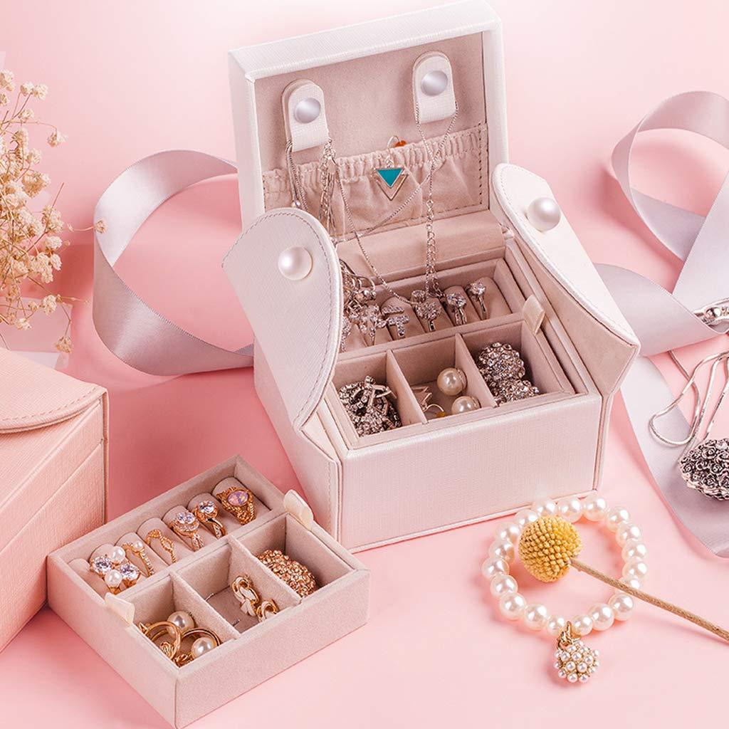 Amazon.com: GZ-(Pink) Travel Portable Jewelry Box Princess ...