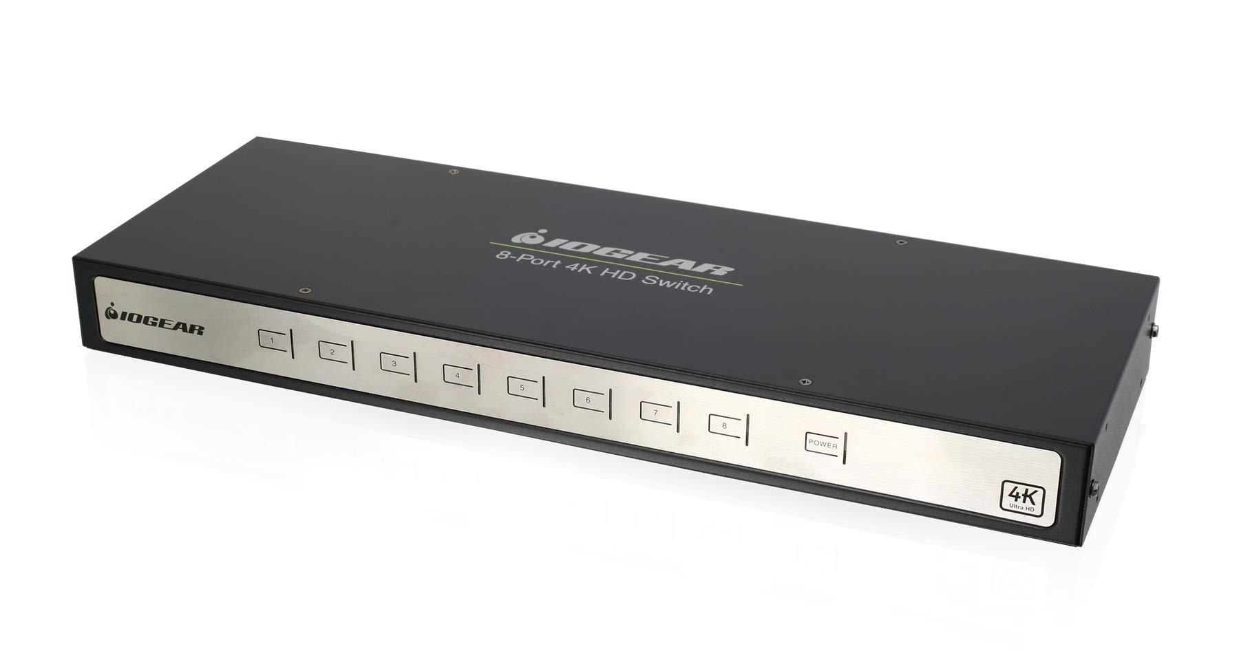 IOGEAR 4K 8-Port Switcher with HDMI (GHSW8481) by IOGEAR