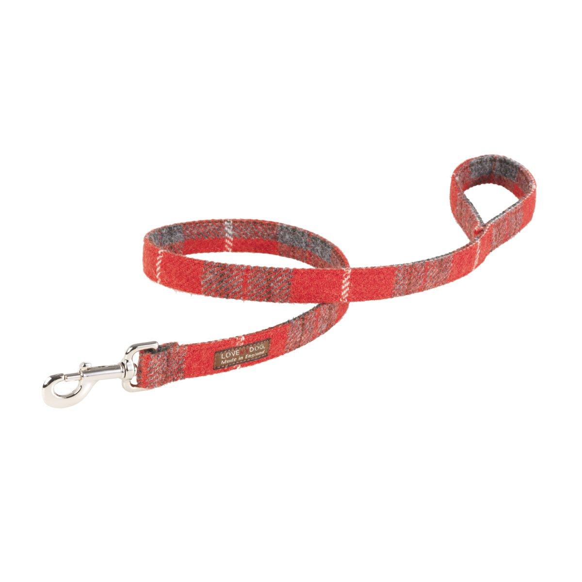 Lovemydog Hundeleine, Hoxton Harris Tweed Schottenmuster