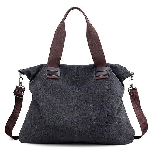 f35f66ffdcd8 Women's Canvas Shoulder Bags Crossbody Tote Purse Work Travel Weekender Bag