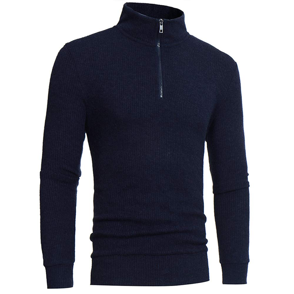Ocean Sweater Men's Autumn Winter Turtleneck Long Sleeve Pullover Shirt Blouse Tops