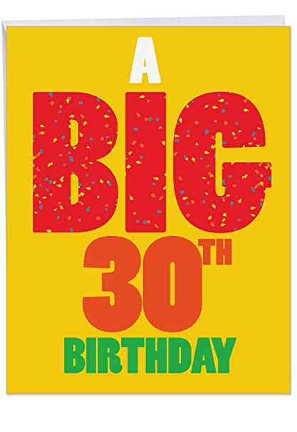 30th Birthday Greeting Card With Envelope 85 X 11 Inch