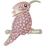 Teniu Animal Brooch for Women Men Rhinestone Crystal Brooch Diamond Brooch Pins Silver/Gold Plated