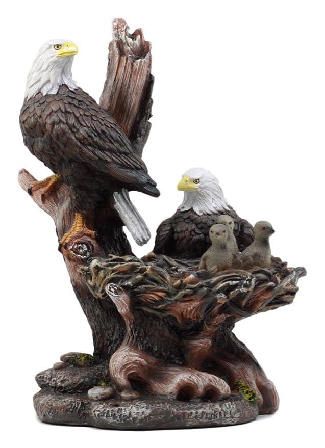 ebros regalo Wildlife hábitat águila calva familia en nido Estatua ...