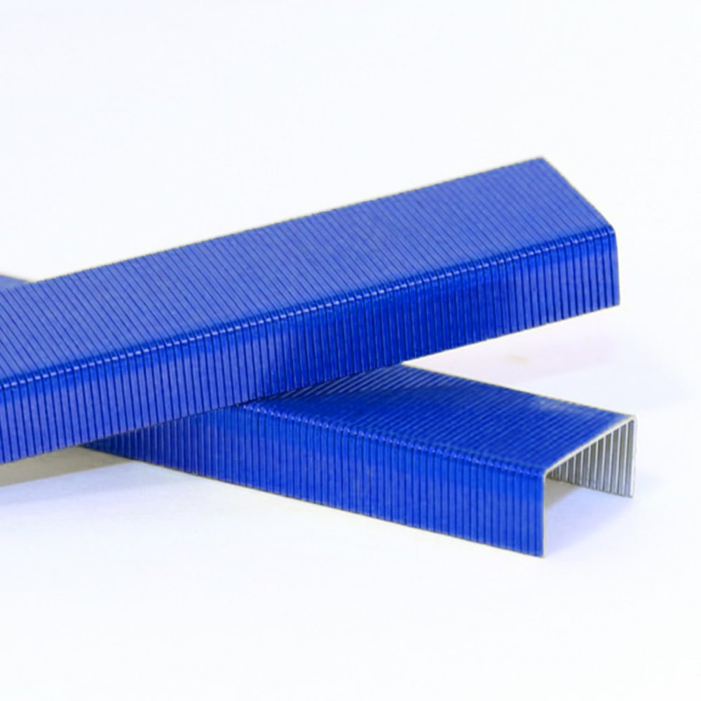 JAM PAPER Standard Size Colorful Staples - Blue - 5000/box