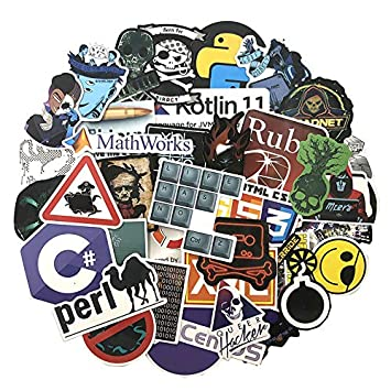 72 Unids/Paquete Programador Pegatinas Hacker Pegatinas para ...