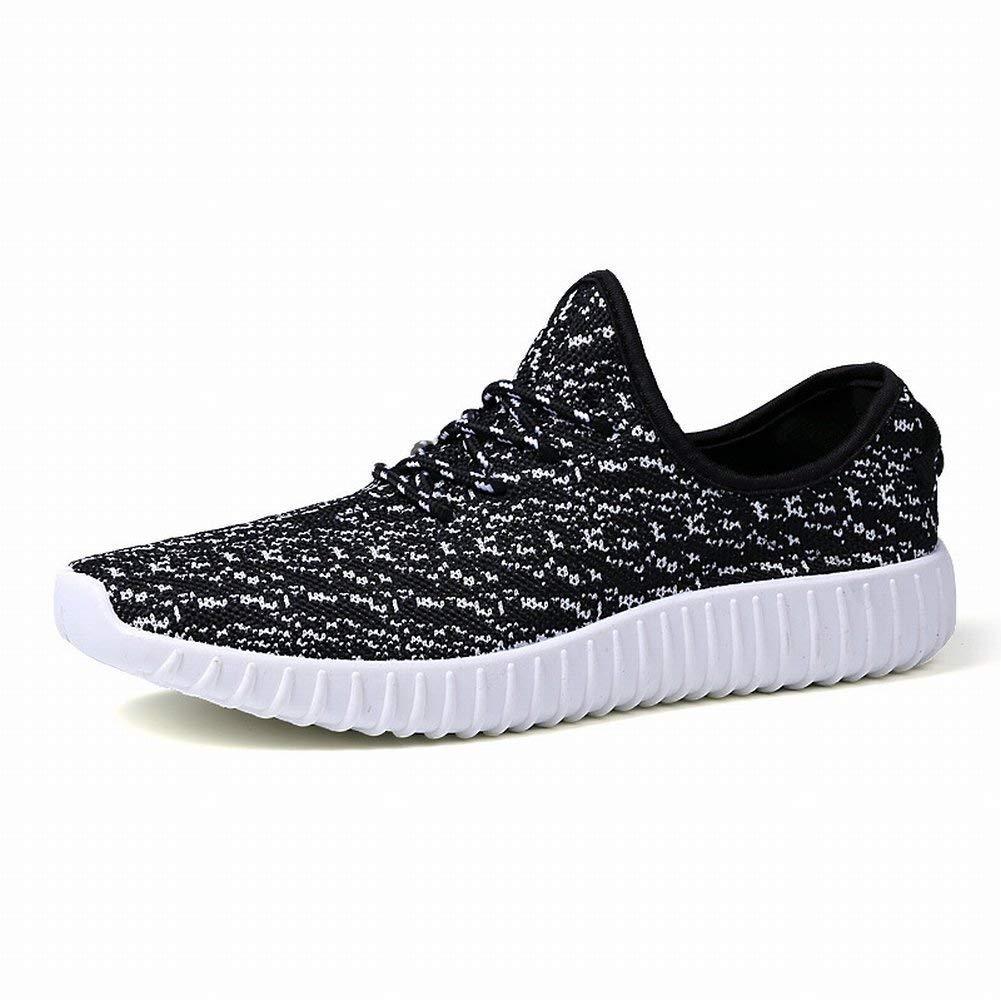 Black Hhgold Men's Athletic shoes Breathable Outdoor shoes Coconut Men's shoes (color   Full black, Size   38)