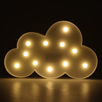 Charmant White Cloud Marquee Light LED Lamp Light Birthday Party Decoration Night Table  Lamp Baby Kid Sleeping