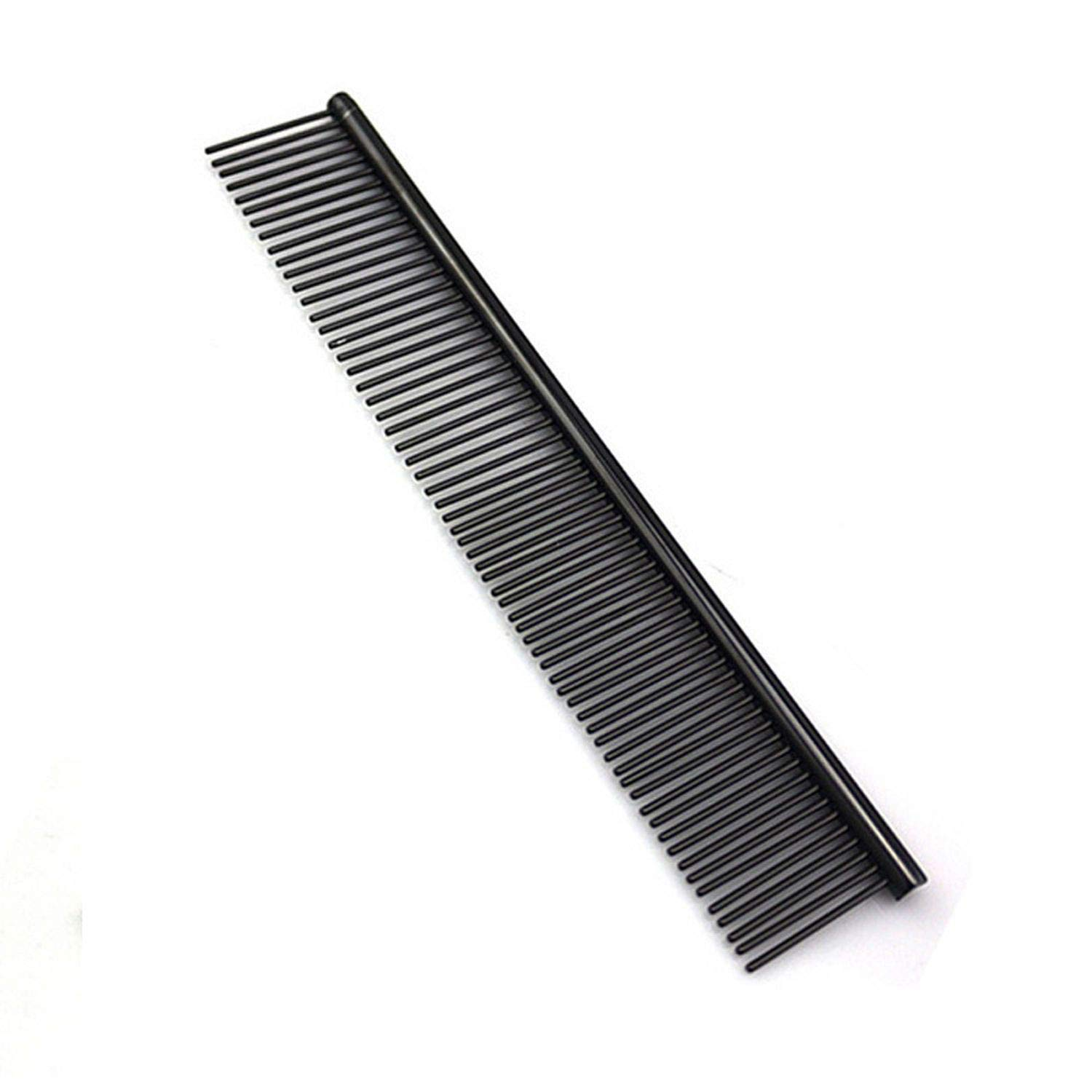 Go get it now Comb Long Hair Shedding Grooming Flea Comb Pet Puppy Dog Cat Stainless Steel Comb,10,As Show