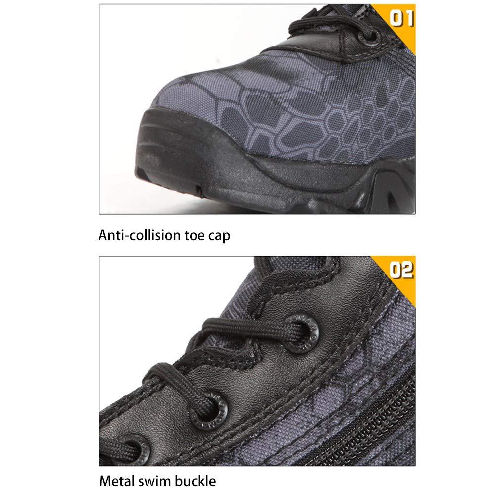 CharmShan Magnum Boots,Kampfstiefel Einsatzstiefel Camouflage-W/üstenstiefel mit Python-Muster im Freien Hightech-Komfort UK6.5 atmungsaktiv und schnell trocknend,A-39