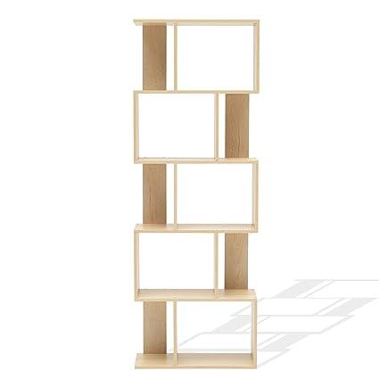 Rebecca Mobili Scaffale Moderno, libreria di Legno, 5 Ripiani, in Stile  Moderno, Beige, Arredamento Soggiorno casa Ufficio - Misure: 172,5 x 60 x  24 ...
