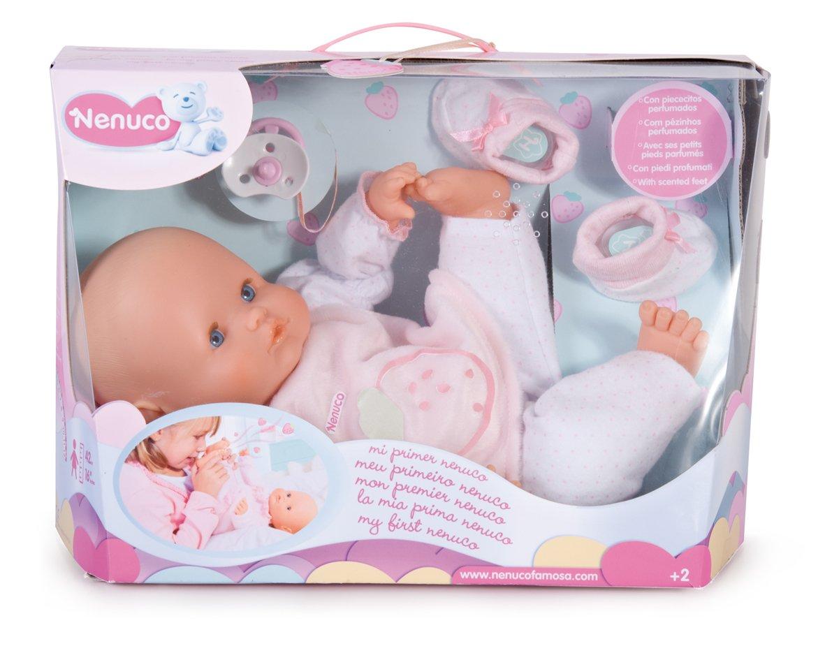 Famosa Nenuco Mi Primer Nenuco - Muñeco bebé blandito con Oso de Peluche