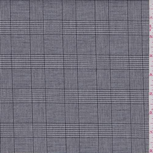 Black/White Mini Houndstooth Check Cotton Suiting, Fabric by The Yard