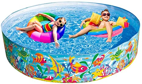 Obobb Portable Swimming Pool Water Fun Kiddie Pools Hard Plastic Large Multi Person Paddling Pool For Home Courtyard Amazon Ca Home Kitchen