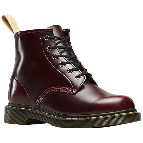 Dr.Martens Unisex 101 Vegan Cambridge Brush Synthetic Cherry Red Botas 46 EU: Amazon.es: Zapatos y complementos