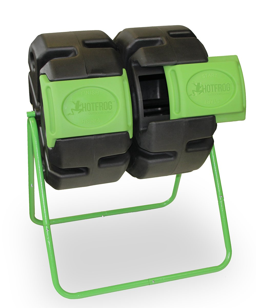 Dual Body Tumbling Composter by HOTFROG by FCMP Outdoor