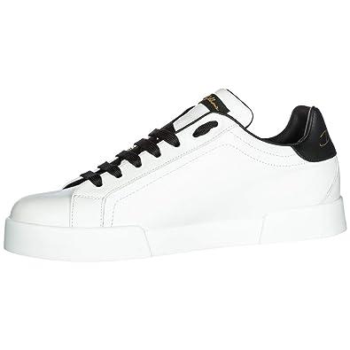 576eaeb8e423 Dolce   Gabbana Chaussures Baskets Sneakers Homme en Cuir Portofino Blanc  EU 43 CS1558 AN108 HWL66