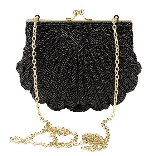 Fully Beaded Purse - La Regale Evening Clutch Handbag – Iconic Fully Beaded Sea Shell Purse