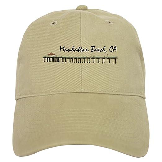 fd70b23d Amazon.com: CafePress - Manhattan Beach - Baseball Cap with ...