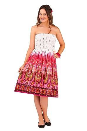 b4fa71e4352d Lora Dora Womens 3 In 1 Halterneck/Bandeau Strapless Summer Dress/Stretch  Maxi Skirt Floral Flower Print Size 8-16: Amazon.co.uk: Clothing