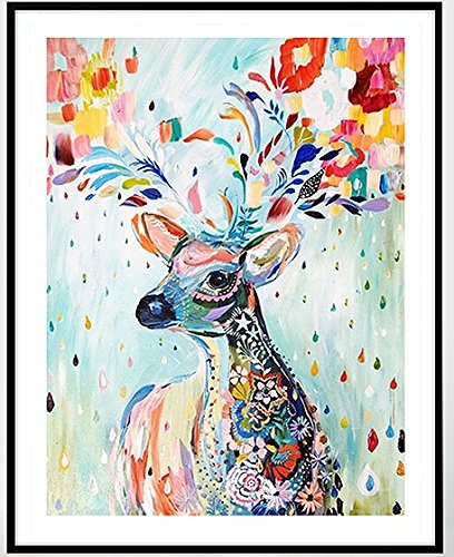 Colorful Deer counted cross stitch, Egyptian cotton thread , 14ct 42x49cm 150x200 Stith counted cross stitch kits sweet home 4336931206