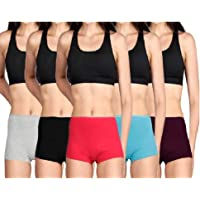 Lux Cozi HER Boyleg Panty for Women (Colour Assorted) (Pack of 4)