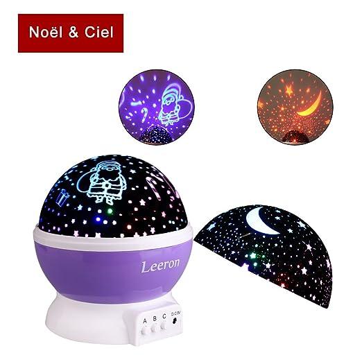 leeron - lámpara de mesa, para Navidad, proyector de estrellas en ...