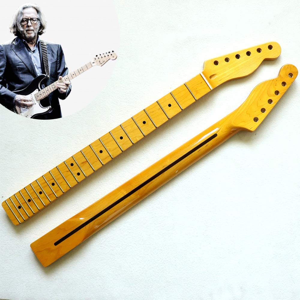 YUSDP Mástil de Guitarra de Arce, diapasón de 22 trastes, Acabado Altamente Pulido, sensación reemplazo de Piezas de Guitarra eléctrica ST Strat, 26 Pulgadas
