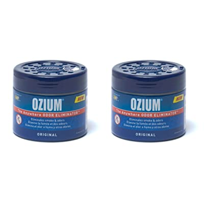 Ozium 804281-2 Regular (4.5oz) - 2 Pack Smoke & Odors Eliminator Gel, Original Scent: Automotive